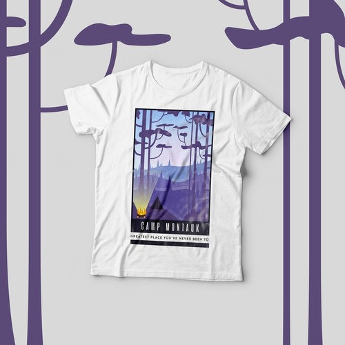 White t-shirt with the title 'T-Shirt design'