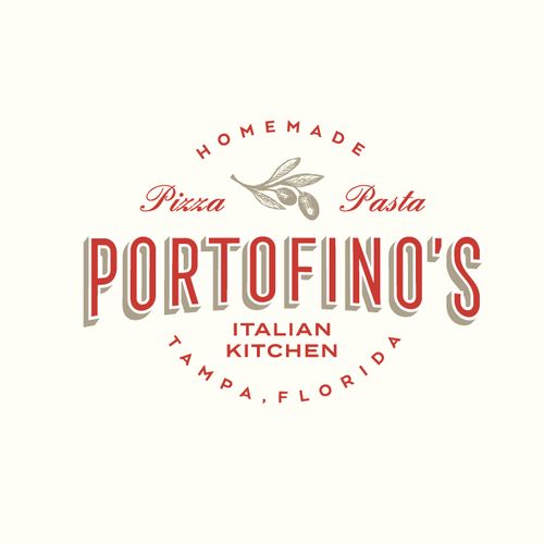 Italian logo with the title 'Portofino's Italian Kitchen'
