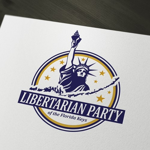 USA logo with the title 'Logo for Libertarian Party of the Florida Keys'
