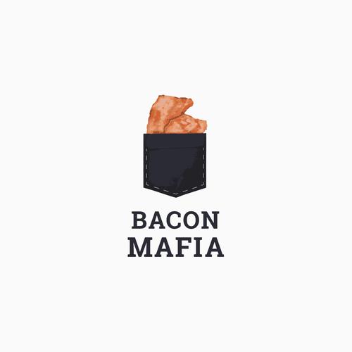 Mafia logo with the title 'Bacon Mafia Logo Design '