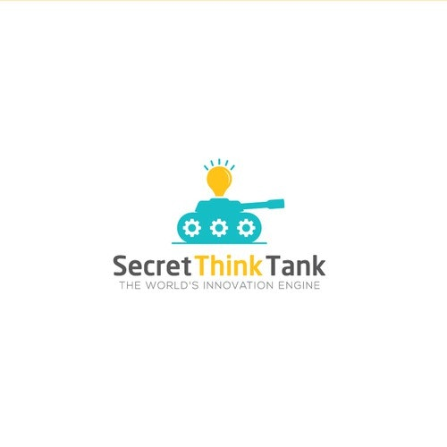 Thinking logo with the title 'Logo for Secret Think Tank'