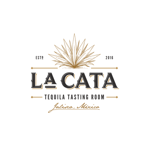 Distillery logo with the title 'LaCata Tequila Tasting Room'