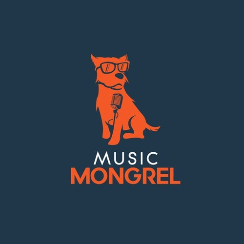 Sunglasses logo with the title 'Music Mongrel Logo'