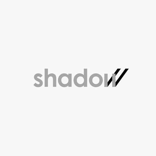 Simple logo with the title 'shadow wordmark'