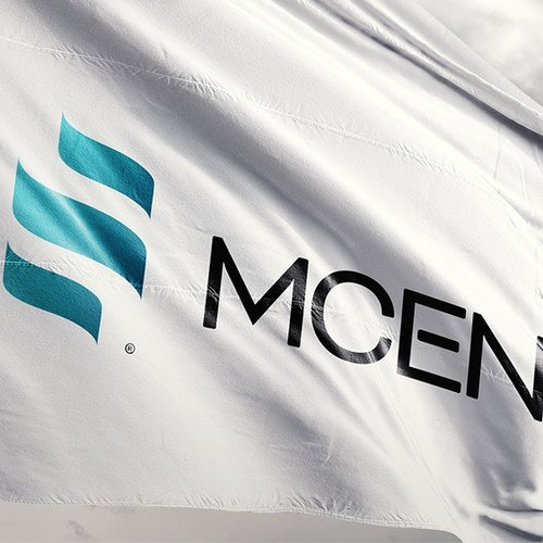 Futuristic logo with the title 'Logo concept for MCEN (energy resource provider))'