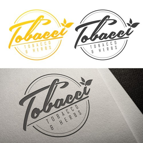 Tobacco logo with the title 'Tobbaco and herbs logo alt 1'