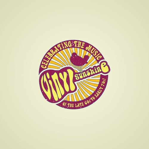 Peaceful logo with the title 'Logo concept for 60s and 70s cover band'