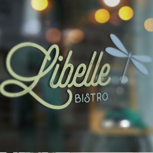 Bistro logo with the title 'Bistro Libelle - Branding for a restaurant located in Switzerland'