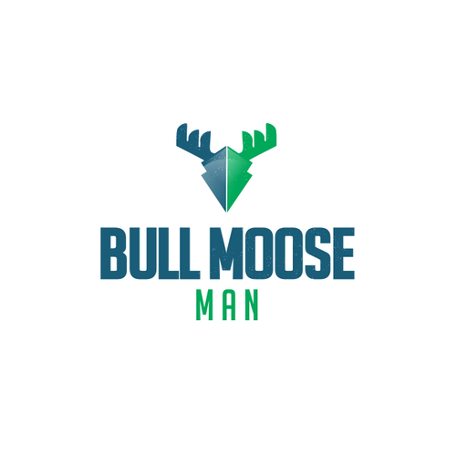 Moose logo with the title 'bull moose man logo '