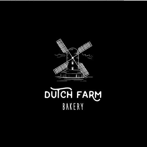 Mill logo with the title 'Dutch Farm Bakery'