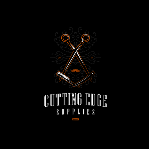 Scissors logo with the title 'tatto style logo for barber shop'