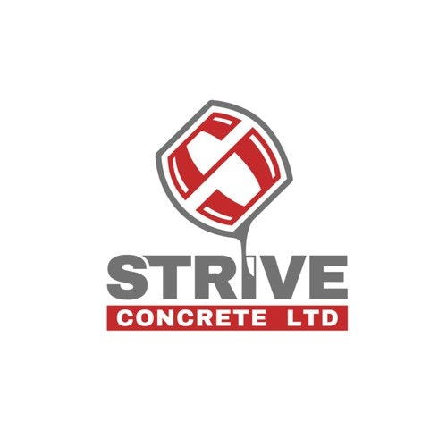 Sans serif logo with the title 'Strive Concrete Logo'