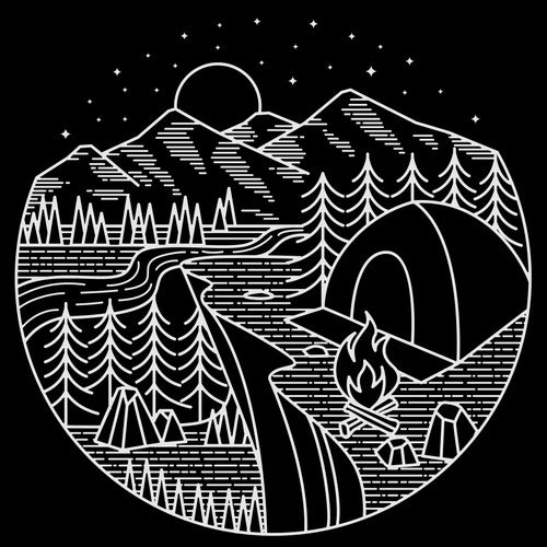 Outdoor t-shirt with the title 'CAMPING '