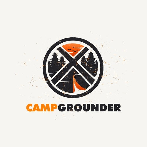 Camping logo with the title 'comping logo'