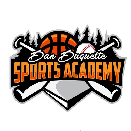 Baseball logo with the title 'Dan Duquette Academy'