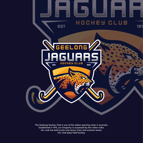 Leopard logo with the title 'Jaguars Mascot'