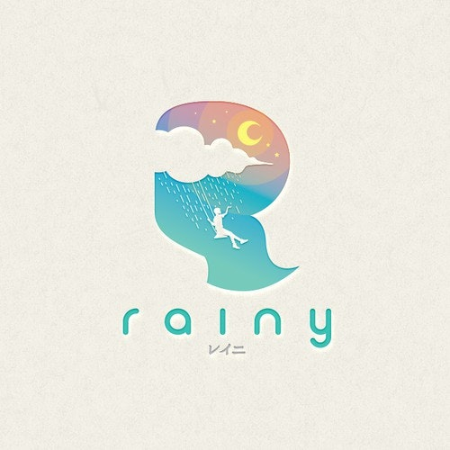 Night logo with the title 'Rainy Logo Concept'