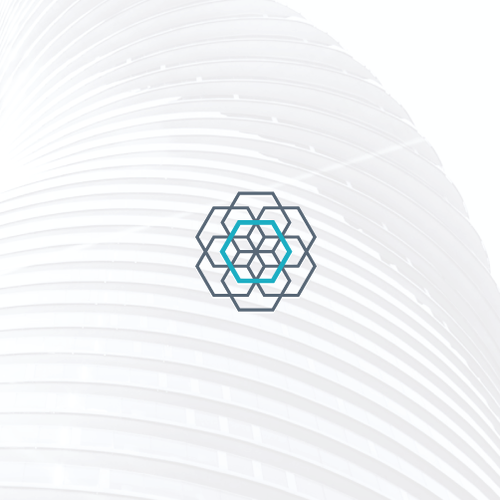 Building logo with the title 'Flower of life, reimagined'
