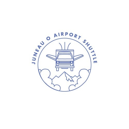 Airport logo with the title 'Logo design for an airport shuttle company'