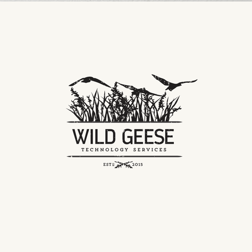 Monochromatic logo with the title 'Vintage inspired vector illustration logo'