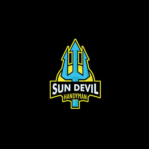 Handyman logo with the title 'Sun Devil Handyman'