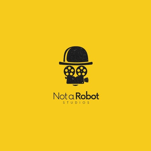 Camera logo with the title 'NOT A ROBOT'