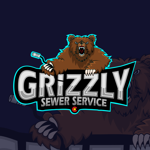 Grizzly logo with the title 'Grizzly Sewer Service'