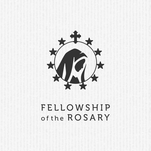 """Ring logo with the title 'Logo for religious group """"Fellowship of the Rosary""""'"""