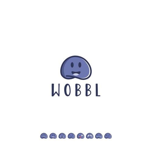 Emoji logo with the title 'Wobbl'