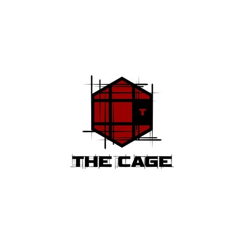 CrossFit logo with the title 'Create an illustration of a challenging fight cage'