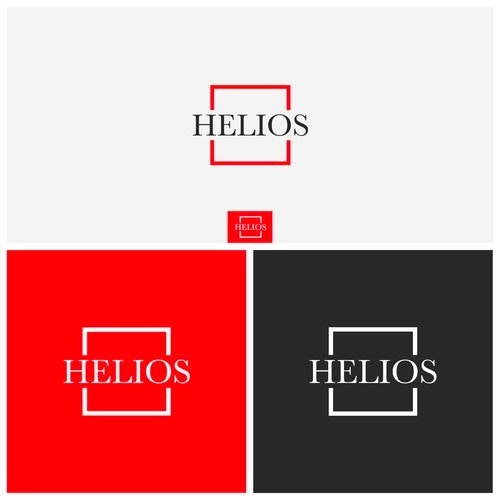 Fashion logo with the title 'HELIOS'