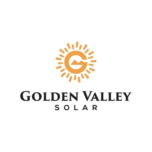 Valley logo with the title 'golden valley solar'