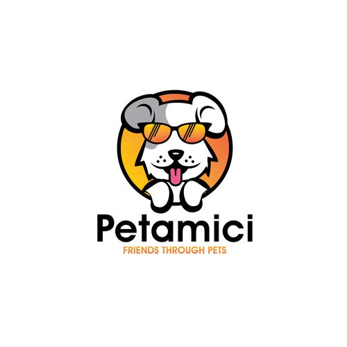 Dog logo with the title 'dog pet logo'