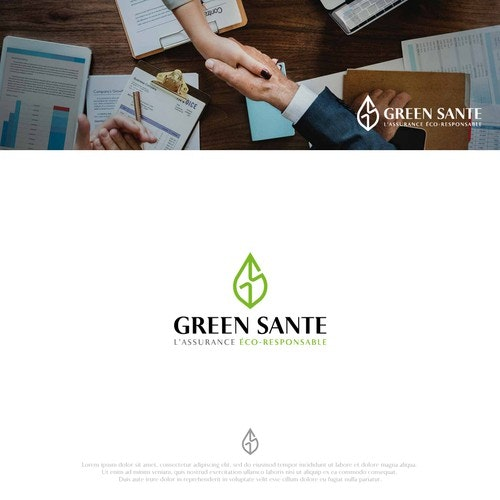Insurance logo with the title 'GREEN SANTE'