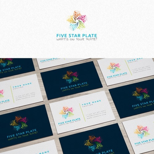 Spiritual logo with the title 'Five Star Plate Logo'