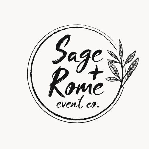Wedding logo with the title 'Logo for Sage + Rome'