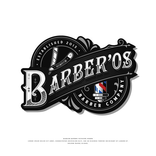 Hipster logo with the title 'Barber'os'