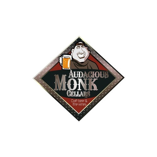 Monk logo with the title 'Bootle shop logo'