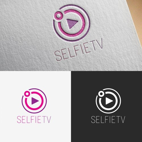 TV logo with the title 'Simple logo concept for website'