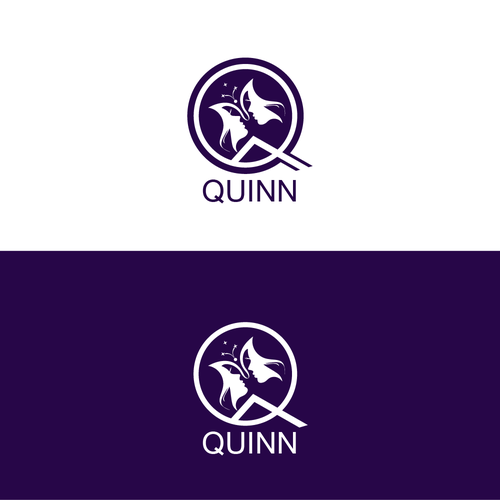Letter Q logo with the title 'illustrative logo concept for quinn'