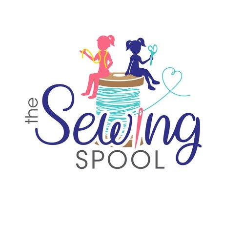 Sewing logo with the title 'The Sewing Spool'