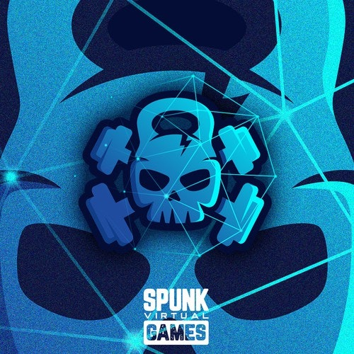 Skull logo with the title 'Spunk Virtual Games'