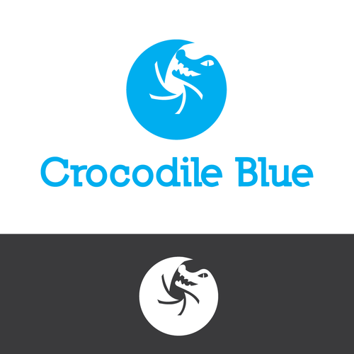 Crocodile logo with the title 'Crocodile Blue'