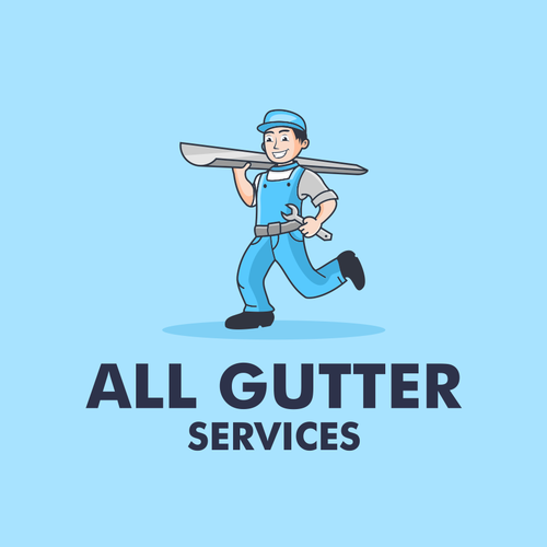 Service logo with the title 'All Gutter Services'