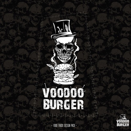 Fast food logo with the title 'Voodoo burger.'