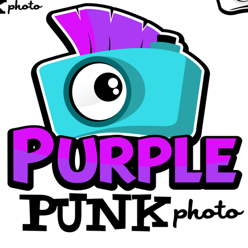 Punk logo with the title 'Purple Punk Photo'