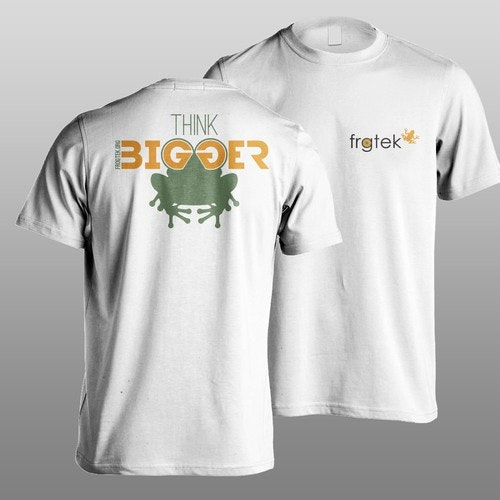 Business t-shirt with the title 't shirt design for frogtek'