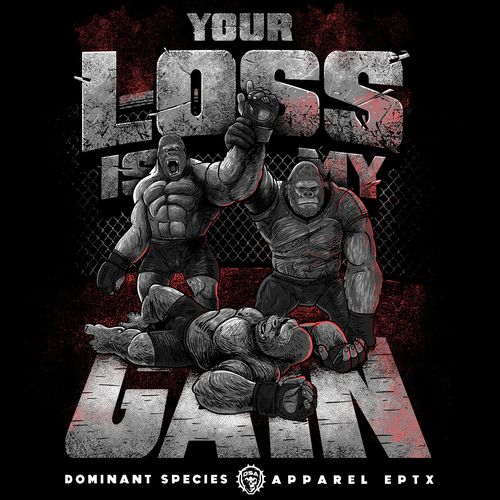 Gym t-shirt with the title 'Your loss is my Gain'