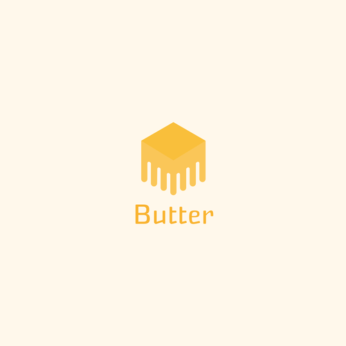 Butter logo with the title 'melting butter'