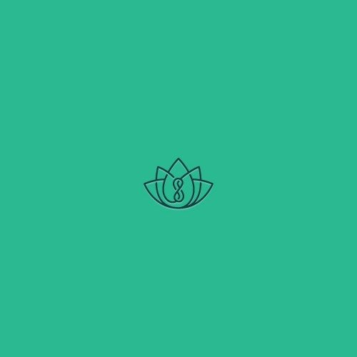 Lotus flower logo with the title 'Zen inspired logo'